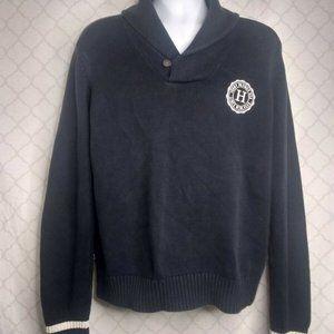 Tommy Hilfiger Mens Black L Sweater Shawl Collar